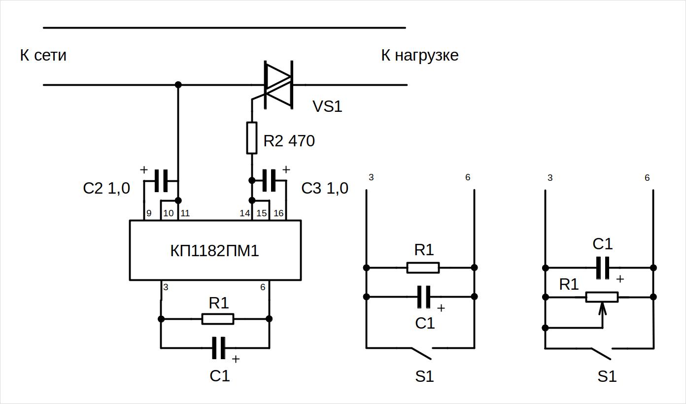 плавный пуск на кр1182пм1 схема