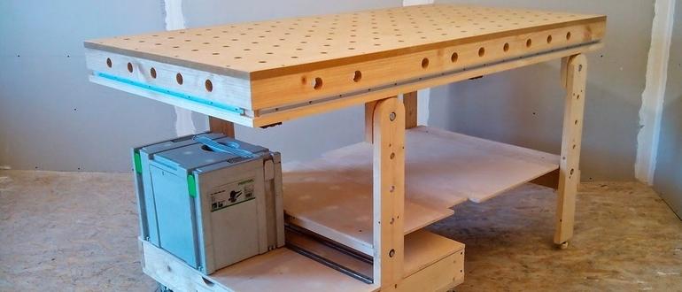 Слесарный верстак своими руками 38 фото чертежи и размеры стола по ГОСТу Как сделать металлический и деревянный верстак для тисков для гаража