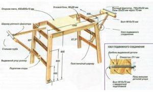 Фото-схема стола для электролобзика